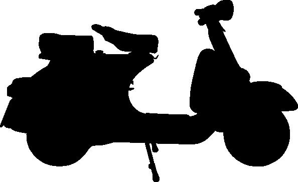 free vector Vespa clip art