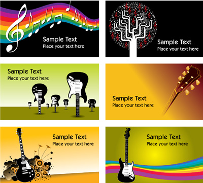 free vector Vi and a variety of card template vector