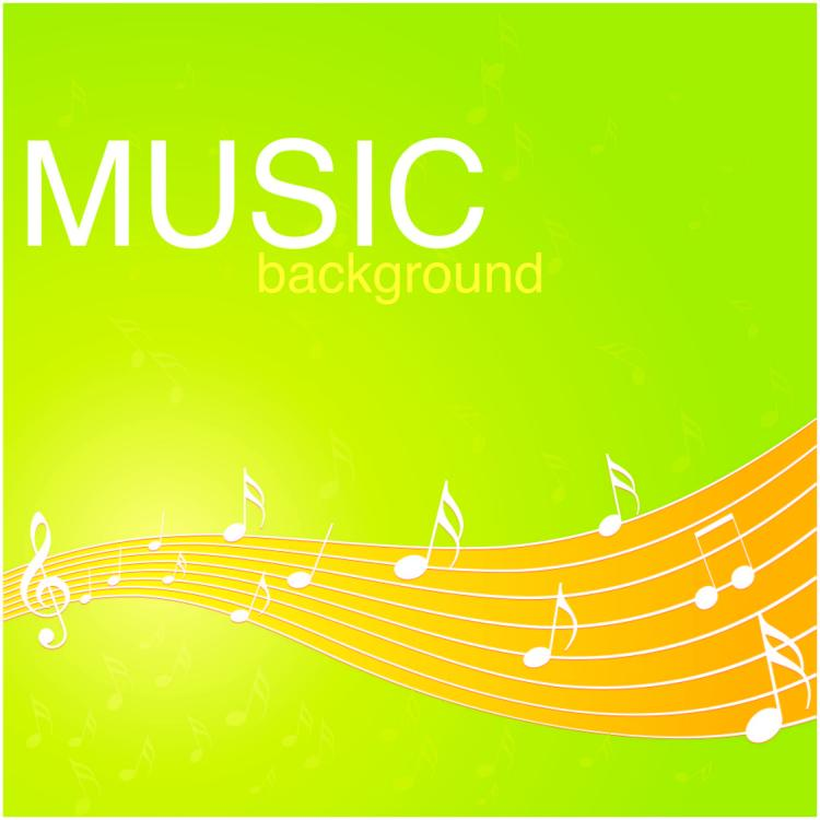 free vector Vibrant music background pattern 02 vector