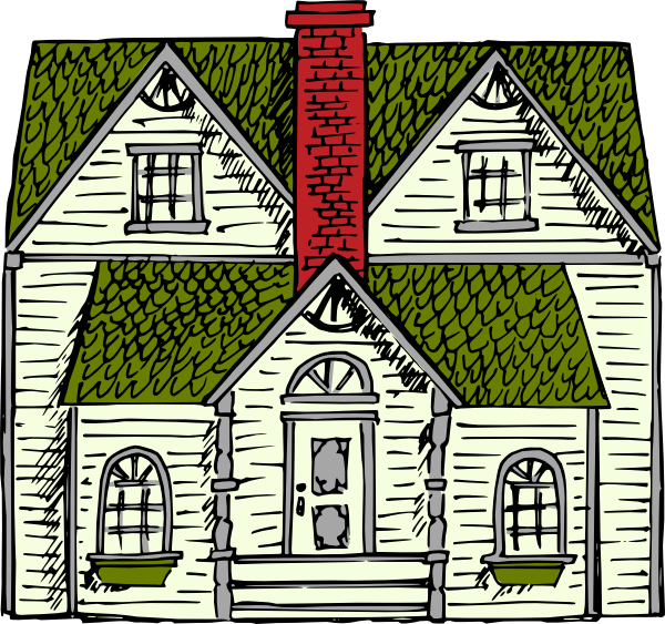 free vector Victorian House clip art