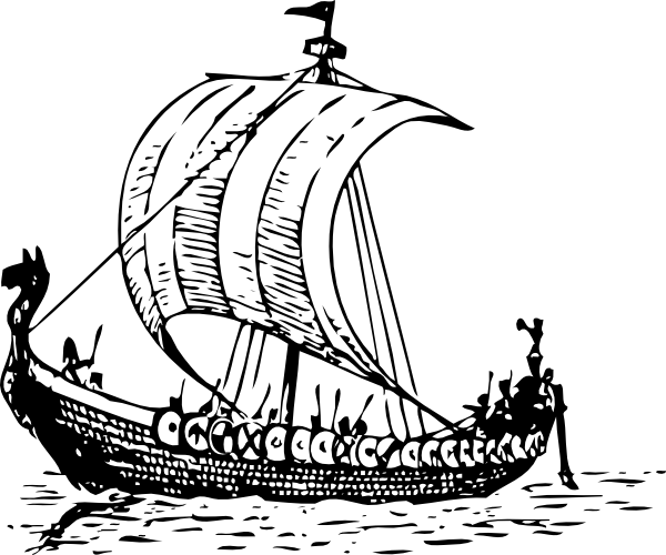 Viking Ship clip art Free Vector / 4Vector