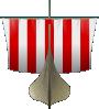 free vector Viking Ship Sailing clip art