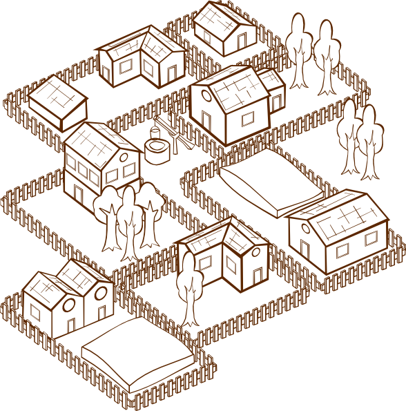 free vector Village clip art