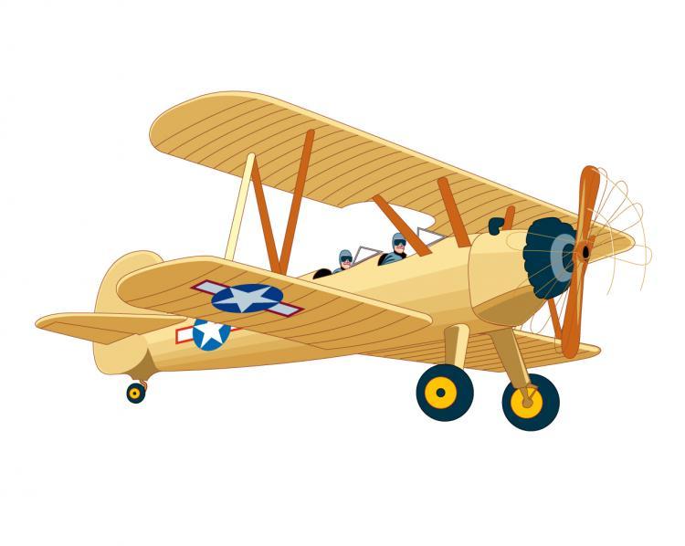 vintage airplane clipart - photo #6