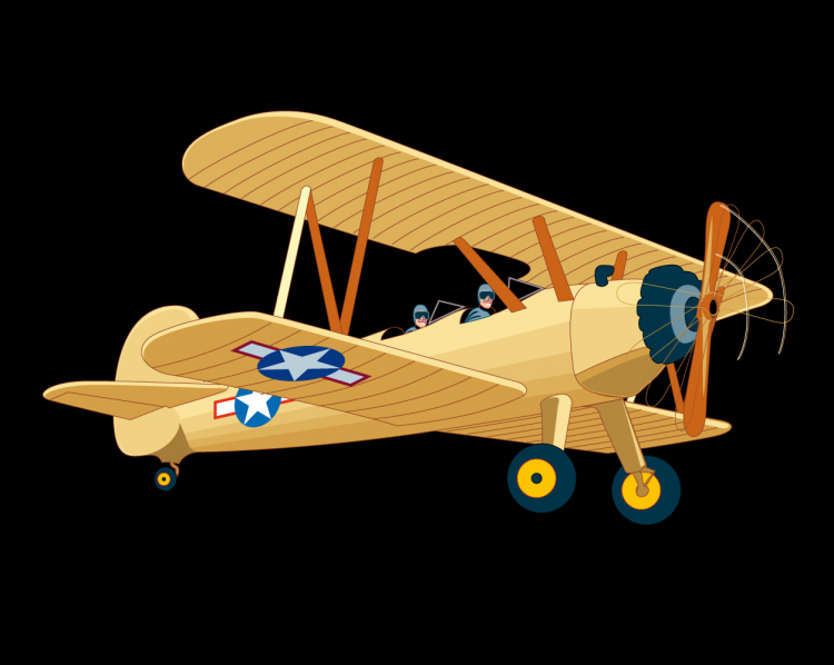 free vector Vintage Aircraft Flight