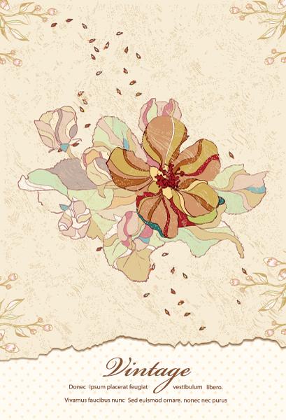 free vector Vintage Floral Background