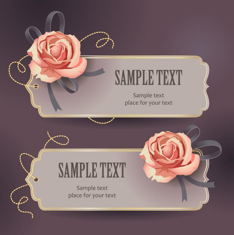 free vector Vintage rose card text template vector 3