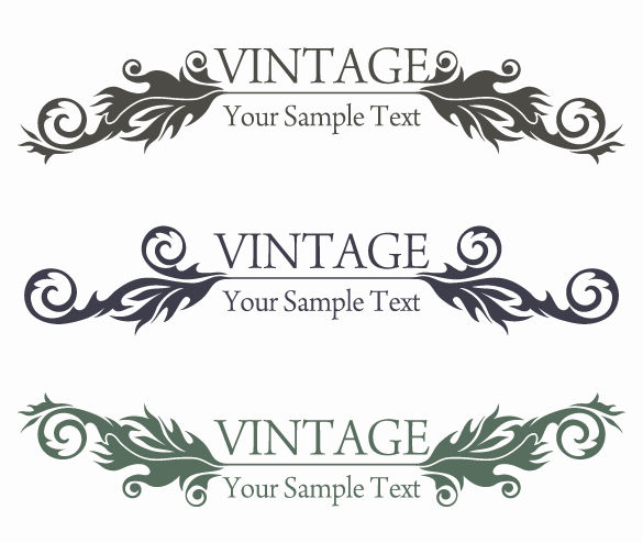 free vector Vintage Style Floral Design Vector Graphic