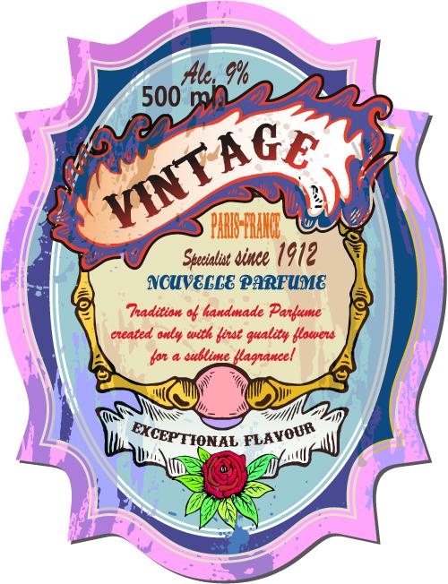 free vector Vintage wine label collection 03 vector