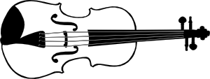 free vector Violin (b And W) clip art