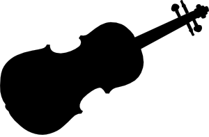 free vector Violin Silhouette clip art