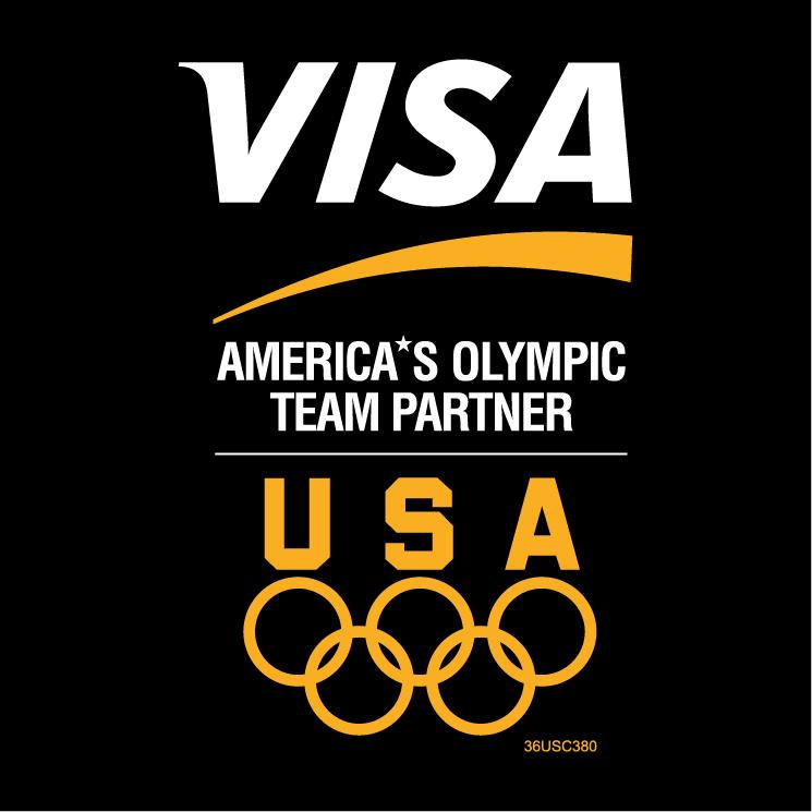 free vector Visa americas olympic team partner 0