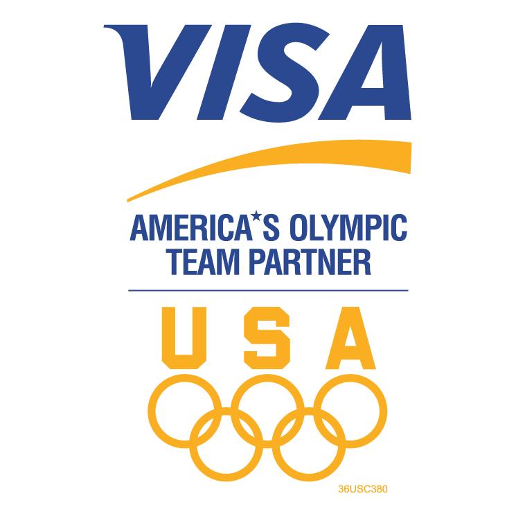 free vector Visa americas olympic team partner