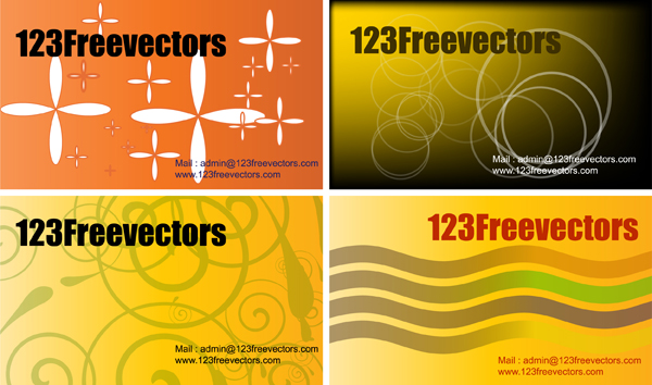 free vector Visiting card
