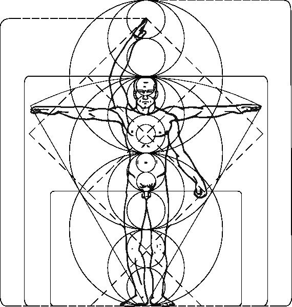 free vector Vitruvian Man clip art