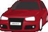 free vector Volkswagen Golf Tuned Clip Art clip art