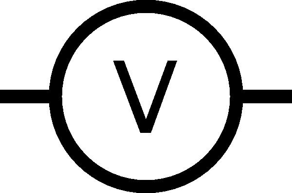 Multimeter Dial Symbols : Volt meter symbol clip art free vector