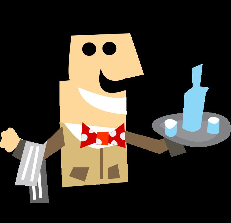 free vector Waiter