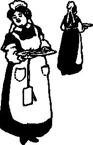 free vector Waitresses clip art