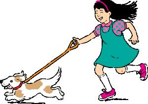 free vector Walking Dog clip art