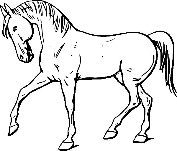 free vector Walking Horse Outline clip art
