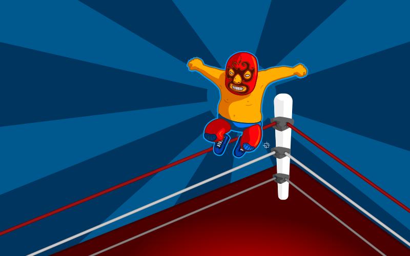 free vector Wallpaper luchador en el ring
