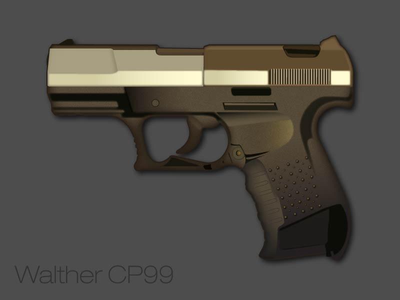 free vector Walther Pistol Vector