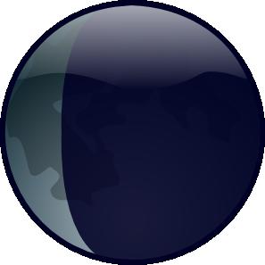 free vector Waningcrescent clip art
