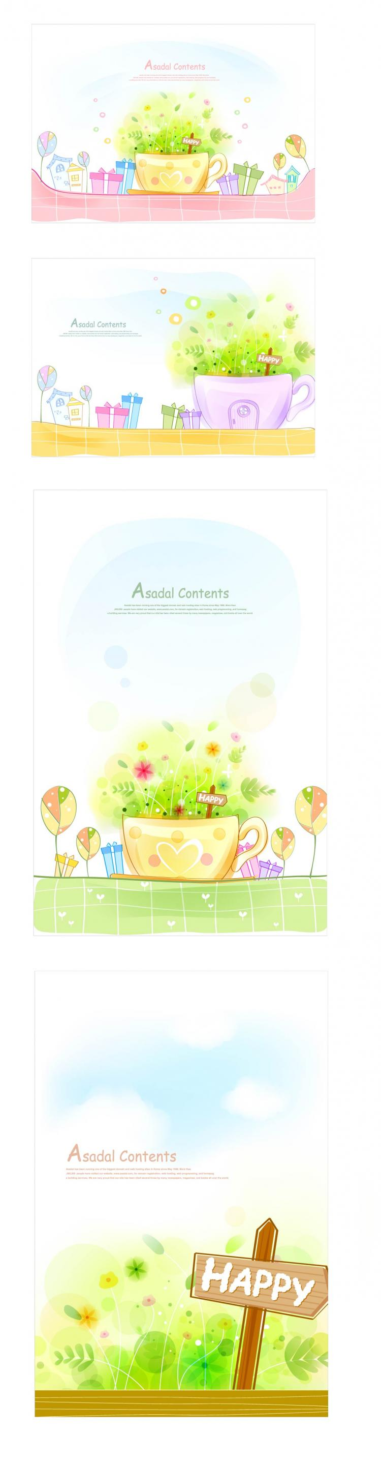 free vector Warm and sweet and lovely background vector