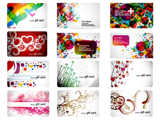 free vector Warm beautifully simple fashion card vector