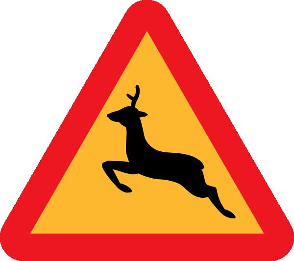free vector Warning Deer Road Sign clip art