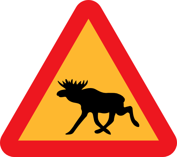 free vector Warning Moose Roadsign clip art
