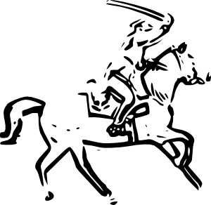 Sword warrior. Horse clip art free