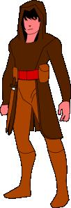 free vector Warrior Wearing Hood clip art