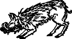 free vector Warthog clip art