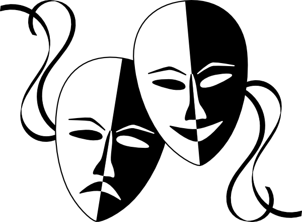 free vector Wasat Theatre Masks clip art