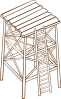 free vector Watchtower clip art