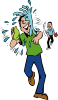 free vector Water Balloon Throw And Hit clip art