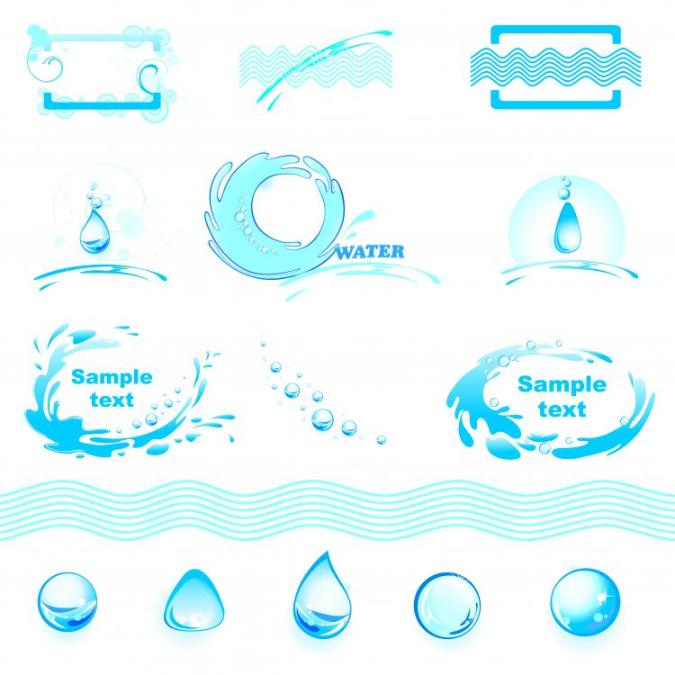 free vector Water theme logo graphics vector