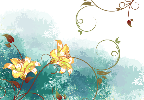free vector Watercolor Floral Background Vector Illustration