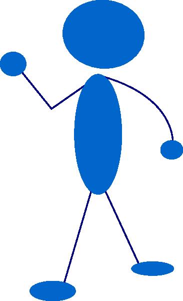 -waving-blue-stick-man-clip-art 106739 Waving Blue Stick Man clip    Person Waving Goodbye Clipart