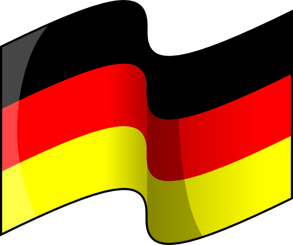 Waving German Flag clip art Free Vector / 4Vector