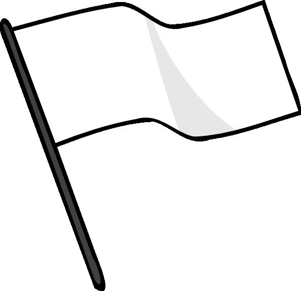 free vector Waving White Flag clip art
