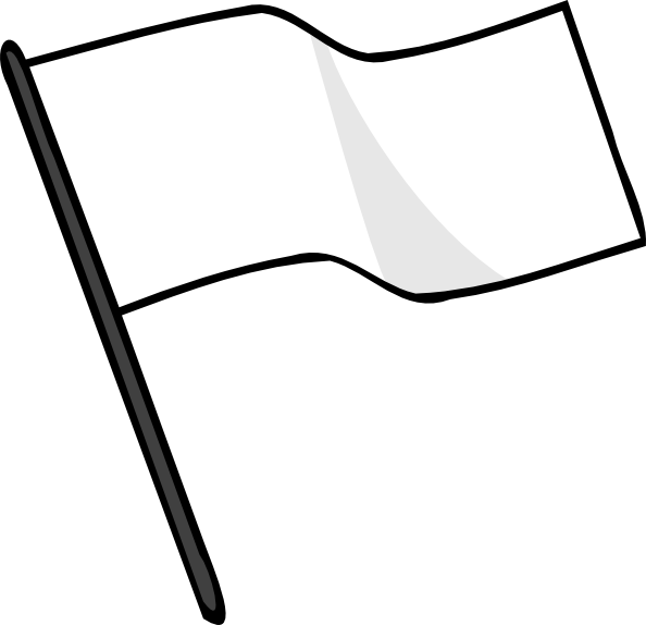 free vector Waving White Flag clip art