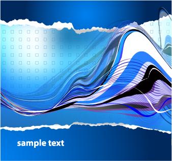 free vector Wavy line background vector