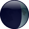 free vector Waxing Crescent clip art