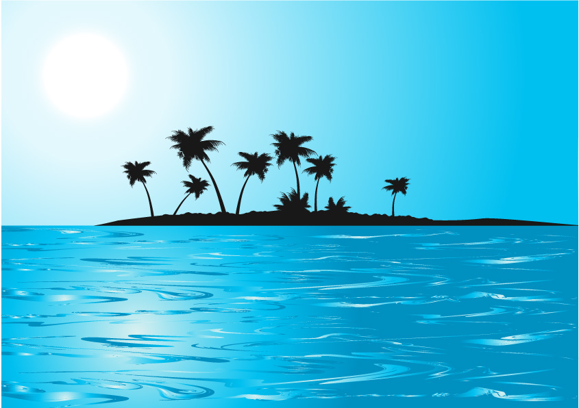 free vector Way sign island