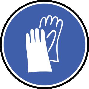 free vector Wear Gloves clip art