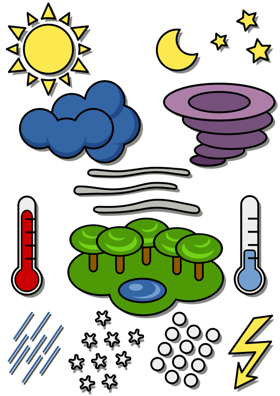 free vector Weather chart symbols