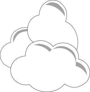 free vector Weather Clouds clip art